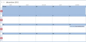 Calendrier Microsoft Outlook